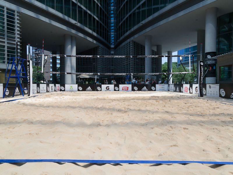 Noleggio struttura campo da beach volley