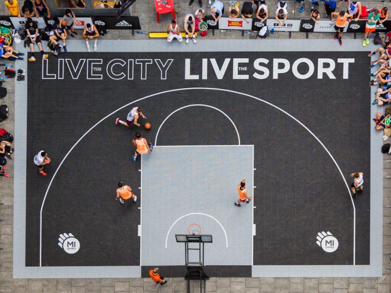 Campo da basket per noleggio