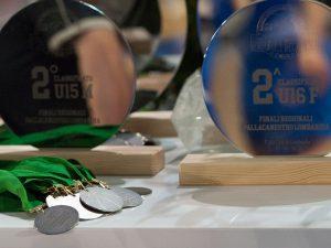 Trofei e medaglie coordinate per evento sportivo