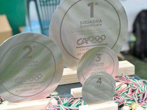 Trofei in acciaio inox levigati per team building sportivo