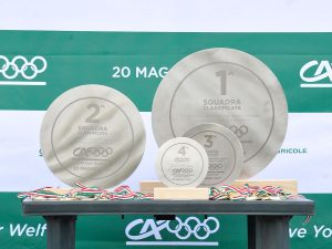 Trofei coordinati in acciaio inox levigato opaco