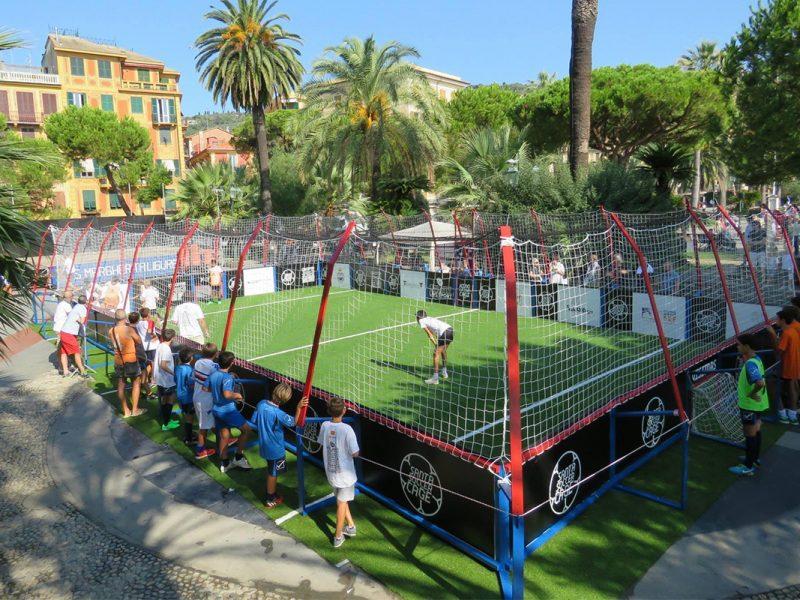 Gabbia calcio 3vs3 temporanea in piazza