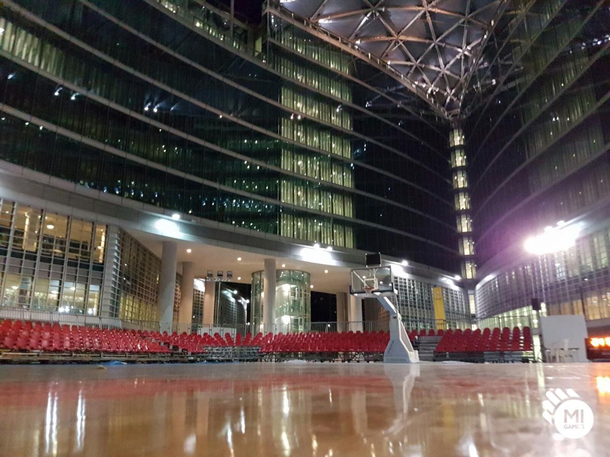 Finali Regionali FIP 2016 - visione notturna del campo in piazza
