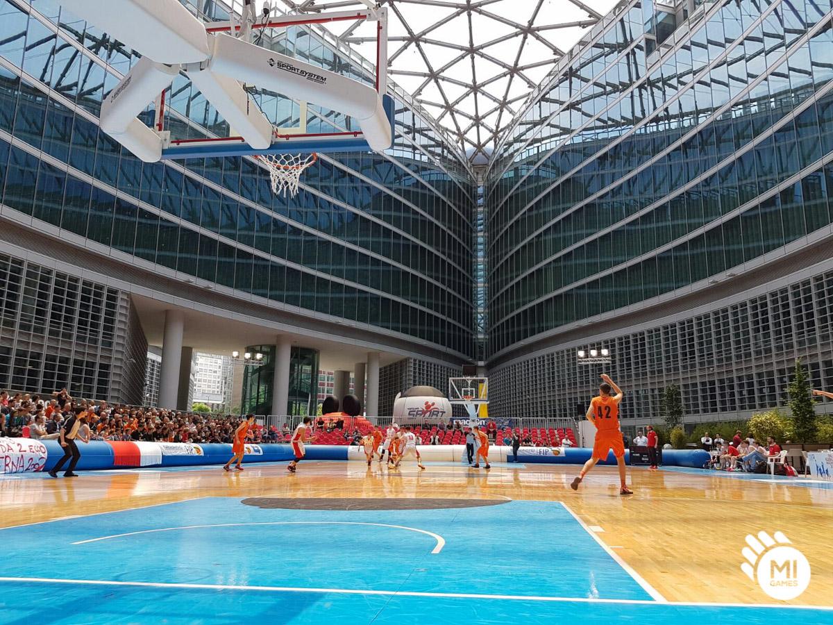 Finali Regionali FIP 2016 - partita in Piazza Città di Lombardia Milano