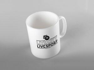 Gadget personalizzato: tazza con logo