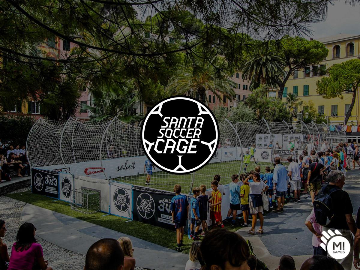 Logo per la manifestazione Santa Soccer Cage