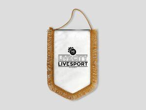 Gagliardetto personalizzato con logo per squadra e società sportiva