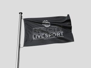 Bandiera personalizzata con logo