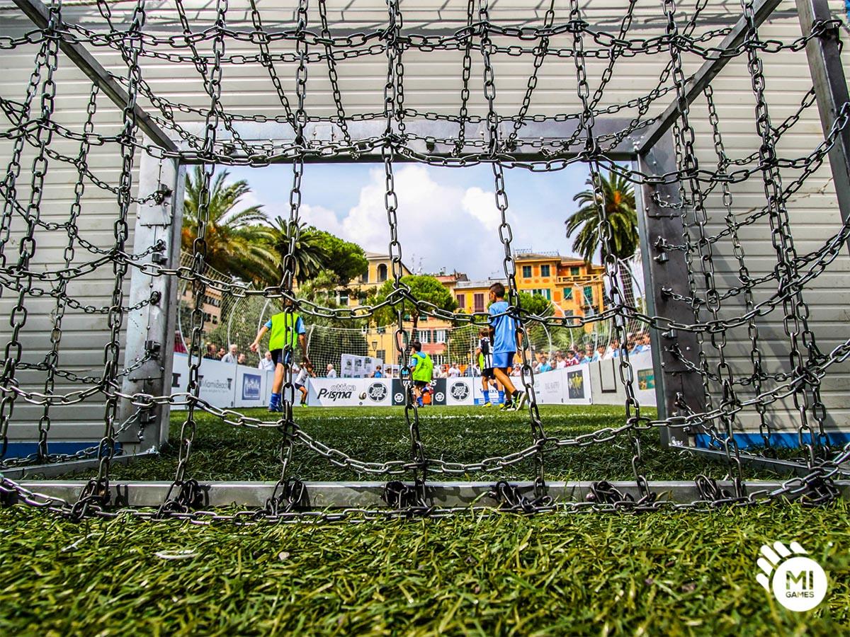 Dettaglio della porta - Gabbia 3vs3 Santa Margherita Ligure