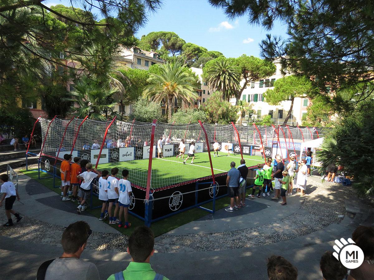 Calcio in gabbia 3vs3 - in piazza a Santa Margherita Ligure
