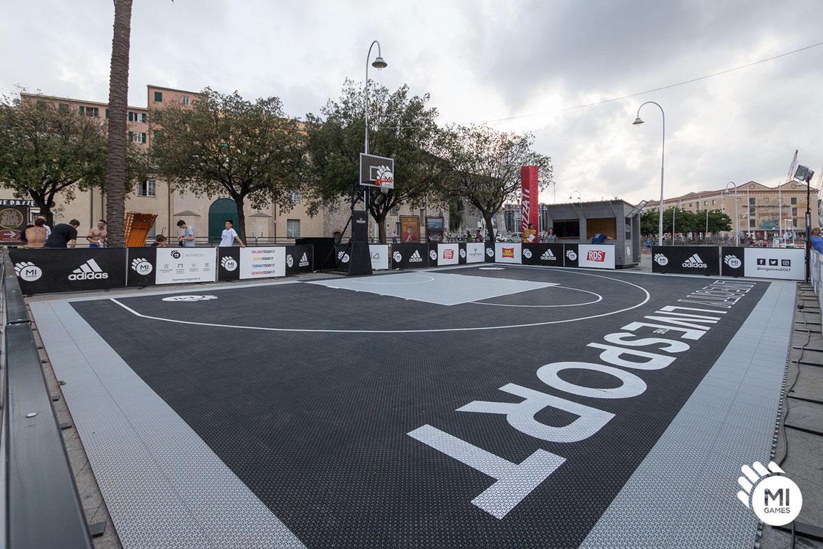 Campo da basket montato a Genova, Porto Antico