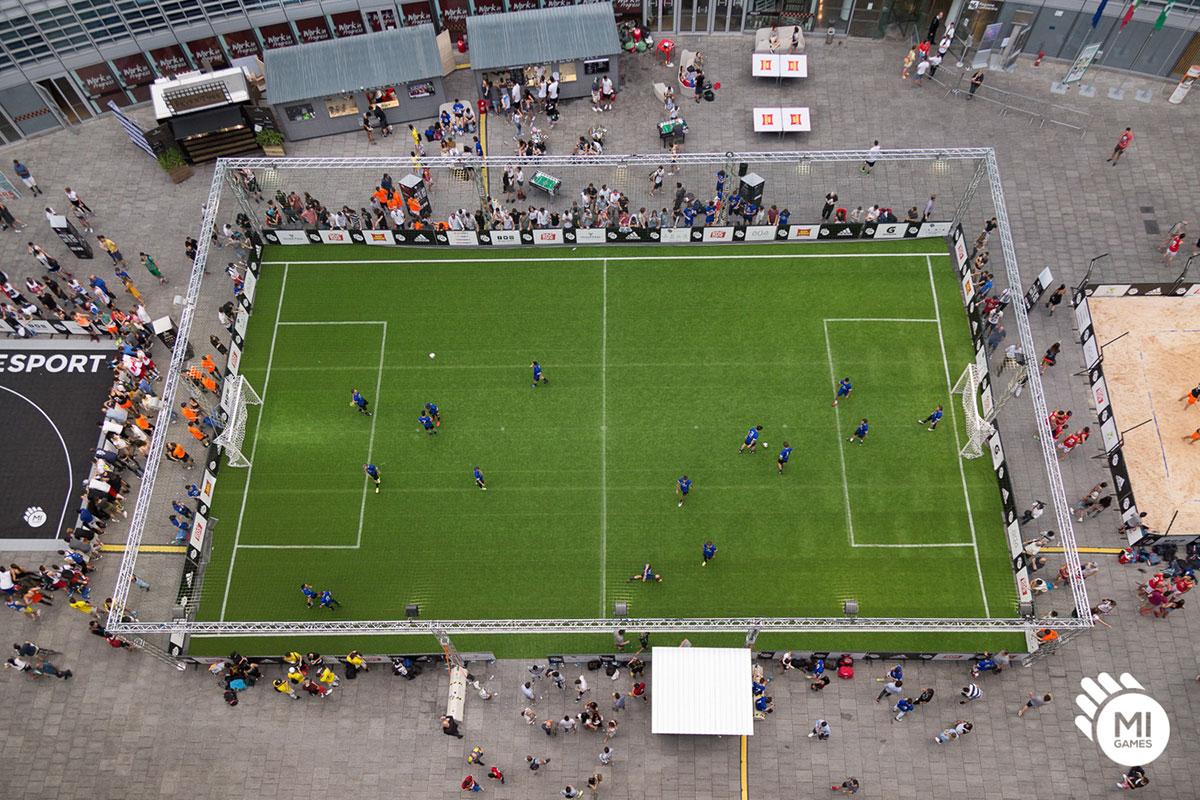 Campo da calcio a 5 per noleggio, vista dall'alto