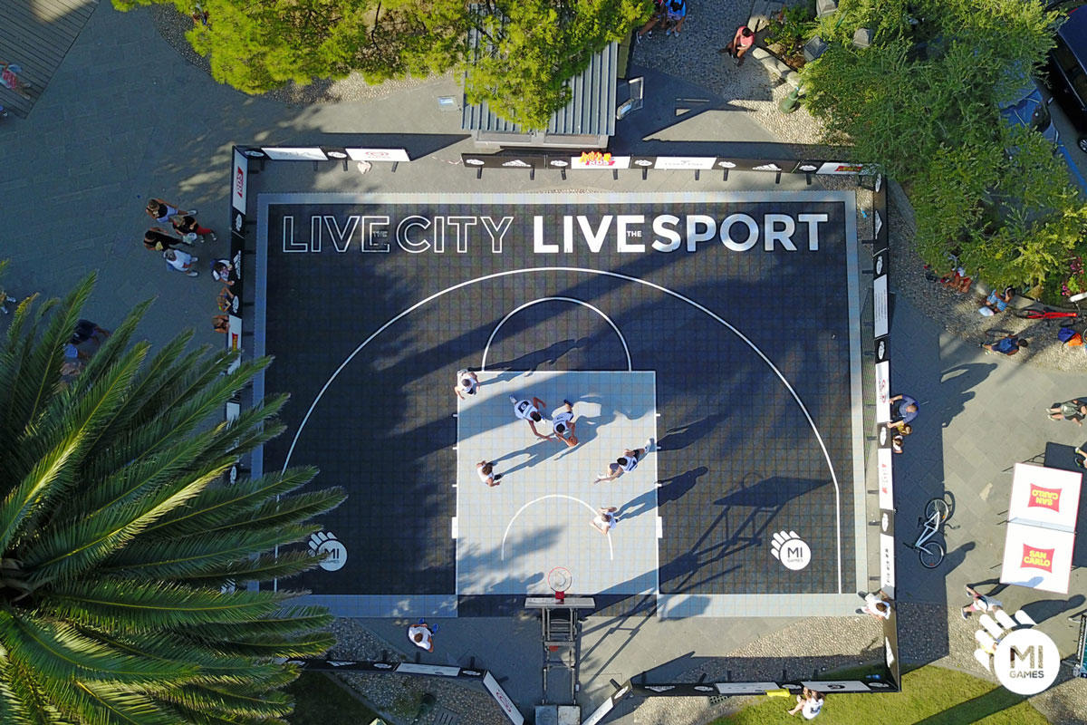 Campo da basket 3 contro 3 temporaneo Mi Games Santa Margherita Ligure