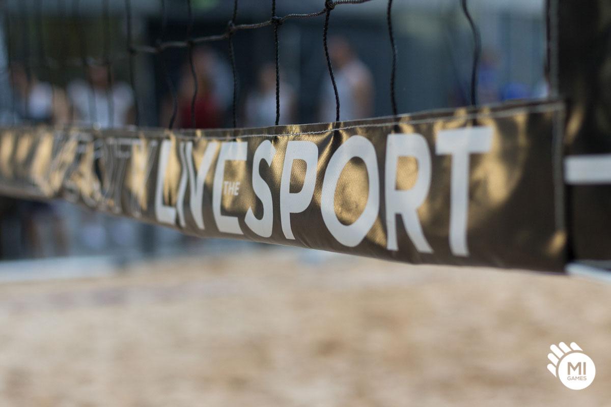Dettaglio rete da beach volley personalizzata Mi Games
