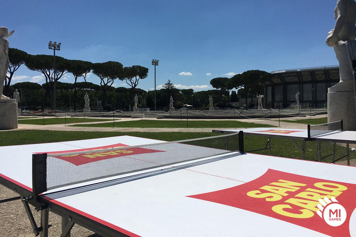 Noleggio tavolo da ping pong personalizzato per evento